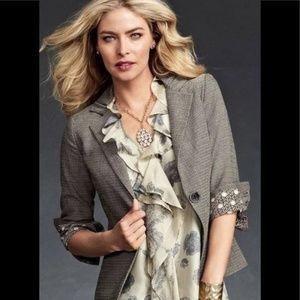 CAbi Barrister Tweed Blazer Jacket #923